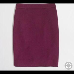 J Crew Factory Plum Purple Wool Skirt Size 8